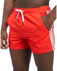 adidas - 3-stripes Swim Shorts - Lyst