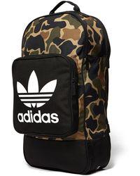 Lyst - Adidas Originals Camo Decon Backpack in Black for Men 8d07ada0bdda0