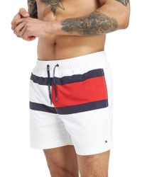 Tommy Hilfiger - Central Flag Swim Shorts - Lyst