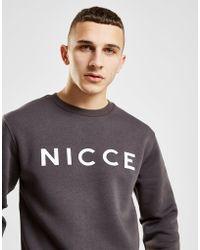 Nicce London - Original Logo Crew Sweatshirt - Lyst
