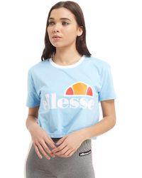 Ellesse - Cropped Ringer T-shirt - Lyst
