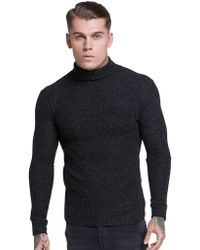 SIKSILK - Roll Neck Knitted Jumper - Lyst