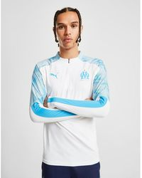 PUMA Olympique Marseille 1/4 Zip Top - Blue