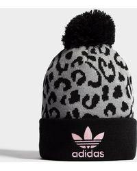 online store 94c1c 93a4a adidas Originals - Pom Leopard Beanie - Lyst