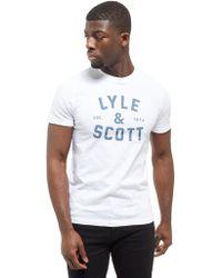Lyle & Scott - Large Logo T-shirt - Lyst