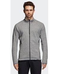 adidas - Knit Fleece Jacket - Lyst