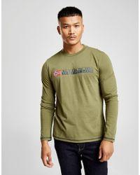 Napapijri - Long Sleeve Large Logo T-shirt - Lyst