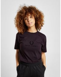 Fred Perry - Textured Logo T-shirt - Lyst