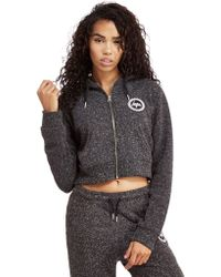 Hype - Neppy Crop Full Zip Hoody - Lyst