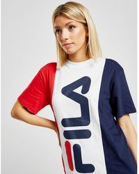 Fila - Panel Boyfriend T-shirt - Lyst