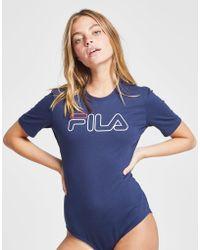 Fila - Large Logo Bodysuit - Lyst