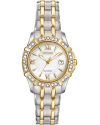 Citizen - Women's Eco-drive Diamond Accent Two-tone Stainless Steel Bracelet Watch 26mm Ew2364-50a - Lyst