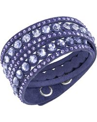 Swarovski - Slake Mauve Dot Bracelet - Lyst