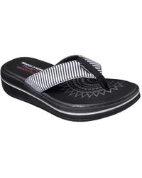 039952e14478 Lyst - Skechers Relaxed Fit Upgrades Sailin Thong Sandal in Blue