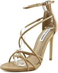 93edbd4379a Lyst - Steve Madden Women S Stefano Block Heel Platform Sandals in White