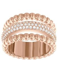 Swarovski - 5139651 Rose Gold Plated Click Ring - Lyst