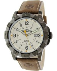 Timex - Expedition Rugged Field Watch With Leather Band - Lyst