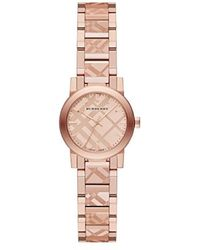 1226b5e715 Burberry - Bu9235 26mm Plated Stainless Steel Case Rose Plated Stainless  Steel Synthetic Sapphire Watch -