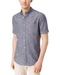 Tommy Hilfiger - Porter Button Up Shirt Blue Xlt - Big & Tall - Lyst