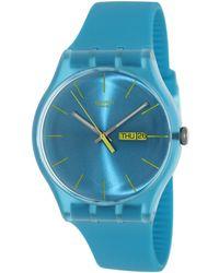 Swatch - Originals Suol700 Blue Resin Swiss Quartz Fashion Watch - Lyst