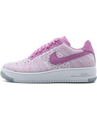 timeless design 9ab2e dffc2 Nike - W Air Force 1 Af1 Flyknit Low Fuchsia Glow white 820256-500