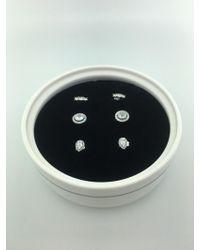 PANDORA - B800705 Sterling Silver Clear Cz Stud Earrings Gift Set - Lyst