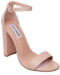 17eb3641fe6 Lyst - Steve Madden Women s Carrson Two-piece Cork-block-heel ...