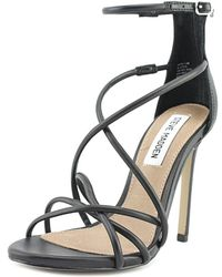 f7bb6c24dc2d Steve Madden - Satire Women Open Toe Synthetic Black Sandals - Lyst