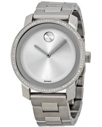 Movado | Bold Diamond Silver Dial Stainless Steel Ladies Watch 3600149 | Lyst