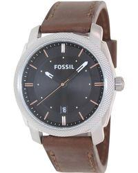 Fossil - Machine Fs4860 Black Dial Watch - Lyst
