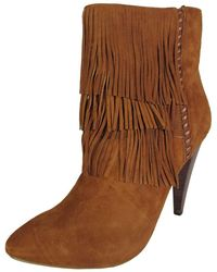 2106eb42e4f0bc Steve Madden - Womens Myrakle Fringed Pointy Bootie Shoe - Lyst