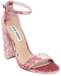 be925bfcc870 Lyst - Steve Madden Carrson Ankle Strap Sandal in Pink - Save 28%