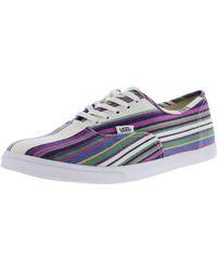 fd0c925806 Vans - Authentic Lo Pro Multi Stripe Ankle-high Canvas Skateboarding Shoe -  10.5m