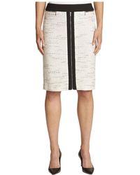 5925141a8d Calvin Klein - Ponte Inset Knee-length Pencil Skirt - Lyst