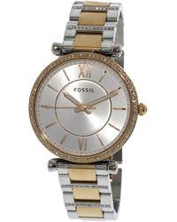 Fossil - Carlie Es4342 Stainless-steel Japanese Quartz Fashion Watch - Lyst