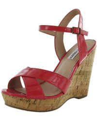 6a3ecfd320a7 Steve Madden - Womens Takkenn Platform Wedge Heel Sandal - Lyst
