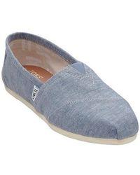 2f968f352e1 TOMS - Classic Slub Chambray Ankle-high Canvas Flat Shoe - 6.5m - Lyst