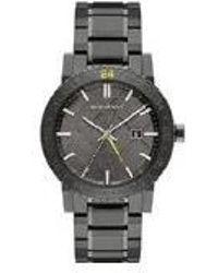 Burberry - Bu9340 The New City Gunmetal Ion Unisex Watch - Lyst