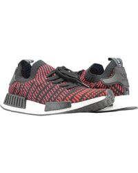 adidas - Nmd r1 Stlt Prime Knit Pk Black red-satellite Cq2385 - Lyst e81df6f19