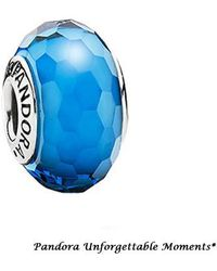 PANDORA - Fascinating Aqua With Murano Glass In 925 Sterling Silver - Lyst