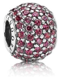 17126558e PANDORA - Red Pave Lights Charm With Red Cubic Zirconia In 925 Sterling  Silver - Lyst