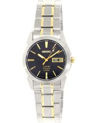 Seiko - Two-tone Titanium Black Dial Watch Sgg735 - Lyst