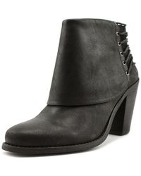 Jessica Simpson - Caysy Women Round Toe Leather Black Bootie - Lyst