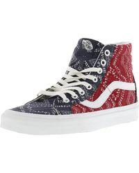 c3d80f7666281e Vans - Womens Sk8-hi Slim Low Top Lace Up Fashion Sneaker - Lyst