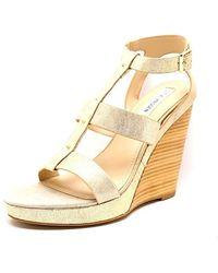 764a88a500bd Steve Madden - Iris Women Us 9.5 Gold Wedge Sandal - Lyst