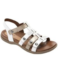 2e2ab8763ae Lyst - Kate Spade New York Troy Metallic Leather Sandals in Metallic