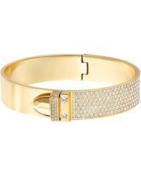 c8c0870f1d5ed Gold-tone Pvd Crystal Pave Buckle Bangle Bracelet