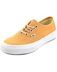 1b337bb644 Vans - Authentic Slim Round Toe Canvas Sneakers - Lyst