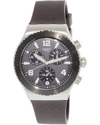 Swatch - Duo Brown Yvs450 Rubber Quartz Sport Watch - Lyst
