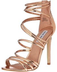 8f7e65edc2d Steve Madden - Santi Leather Open Toe Special Occasion Strappy Sandals -  Lyst